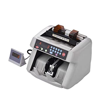 Aibecy Contador de billetes multi-moneda Contador automático de dinero Máquina en efectivo Detector de