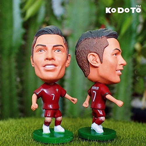 Bobble Head Doll Jersey - Cristiano Ronaldo C7 CR7 #7 - Portugal National Team Edition Football Figurine Soccer Star Figure Doll