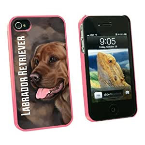 Graphics and More Chocolate Labrador Retriever Brown - Dog Pet - Snap On Hard Protective Case for Apple iPhone 5c - Pink - Carrying Case - Non-Retail Packaging - Pink
