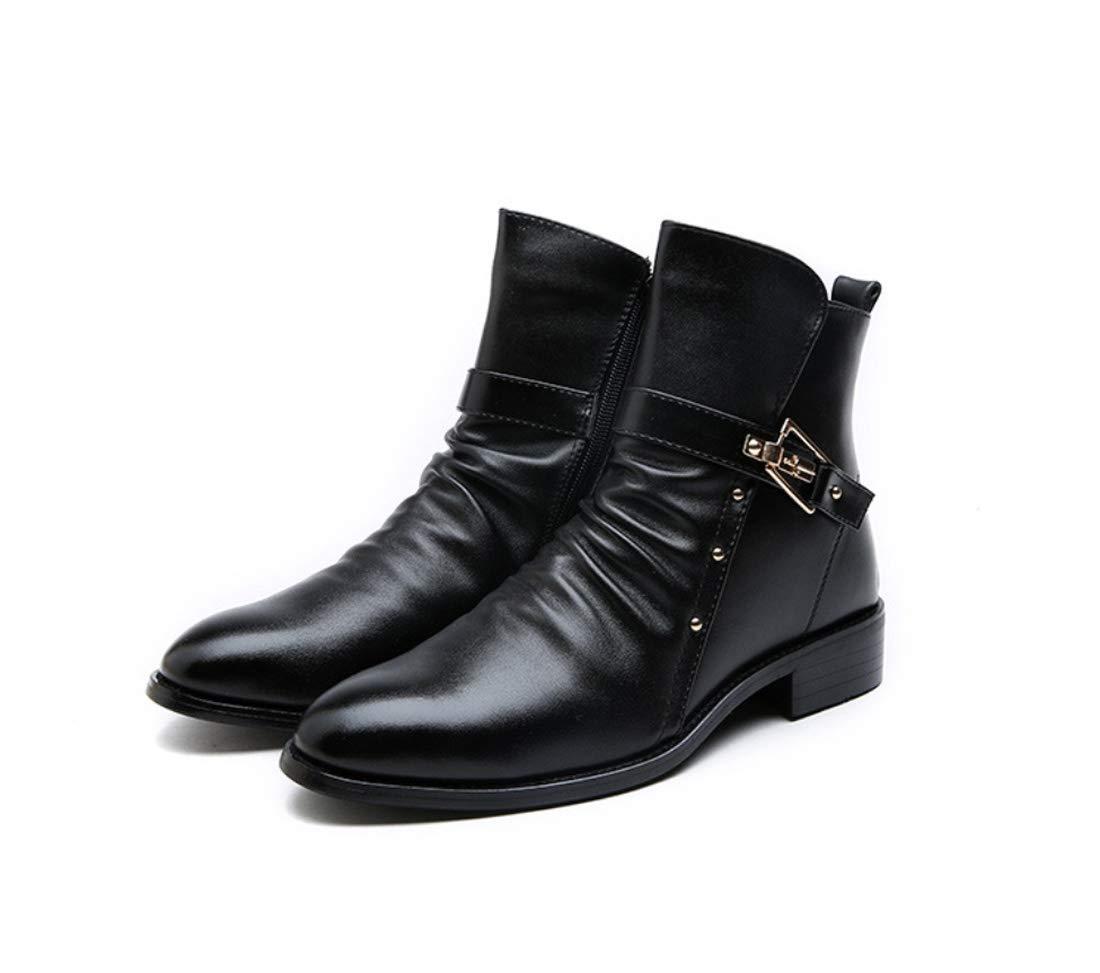 DANDANJIE Herrenmode Stiefel Spitz Zipper Ankle Stiefel für 2018 Herbst & Winter