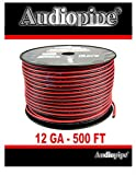 12 Gauge 500' Feet Red Black Zip Wire Hobby Wire Motorcycle Wiring Car Wiring