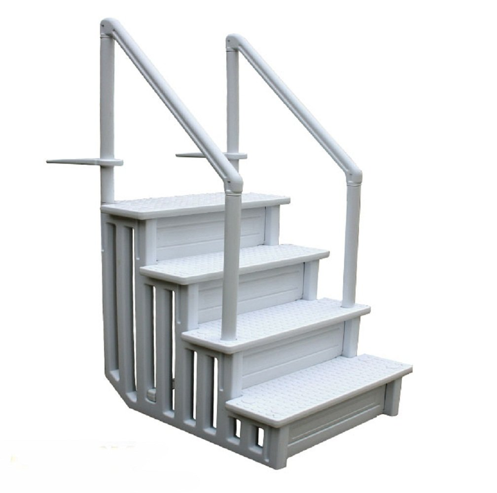 Swimming Pool Ladder Heavy Duty Step System Entry Non Slippery Above Ground by JDM Auto Lights