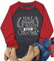 Have Yourself A Merry Little Christmas Baseball Tshirt Womens Long Sleeve Raglan Holiday Tees Top