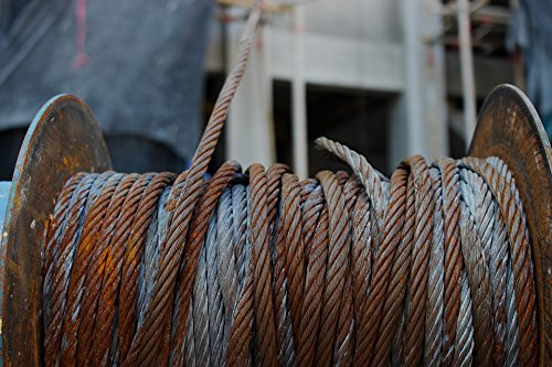 (Home Comforts Canvas Print Industrial Metal Industry Winch Steel Rope Cable Stretched Canvas 32 x 24)