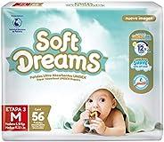 Soft Dreams Pañales Para Bebé Etapa 3 Talla M 56 Piezas