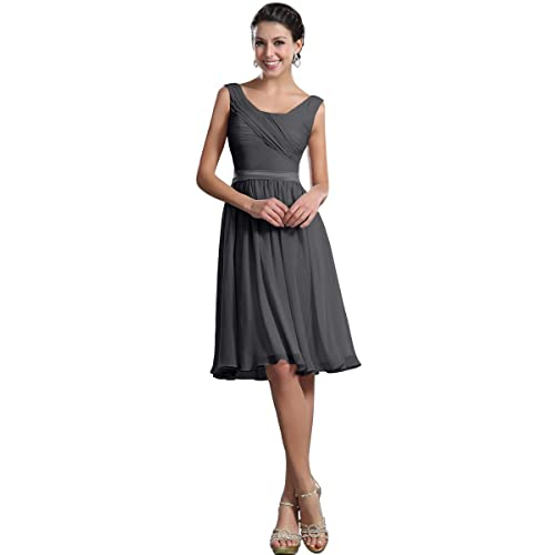 Topwedding Remedios A-Line Chiffon Bridesmaid Dresses Short Party Gown For Prom Homcoming