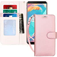 Samsung Galaxy S8 Flip Folio Case w/ID & Credit Card Protector (Rose Gold)