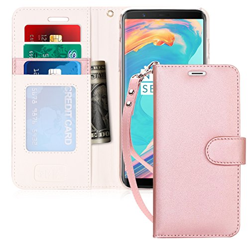 FYY Luxury PU Leather Wallet Case for Samsung Galaxy S8 Plus, [Kickstand Feature] Flip Folio Case Cover with [Card Slots] and [Note Pockets] for Samsung Galaxy S8 Plus Rose Gold
