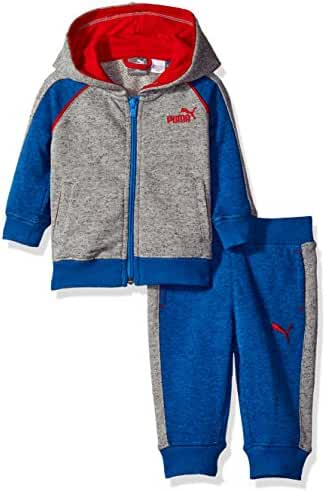 PUMA Baby Boys' 2-Piece French Terry Sweatshirt and Pant Set