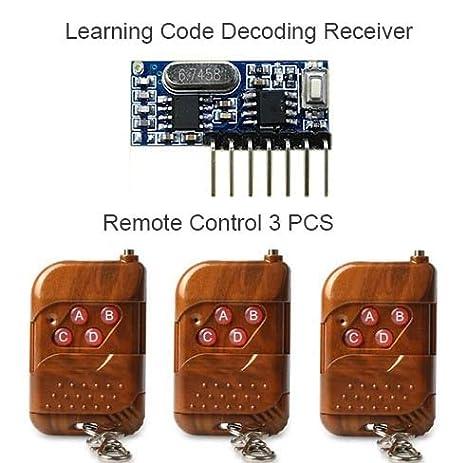 Calvas 3pcs 433Mhz Remote Control and 1pcs 433 Mhz Wireless