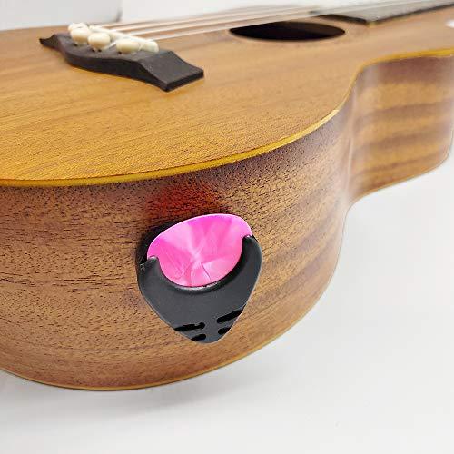 Guitar Picks & Guitar Pick Holder Stick To Acoustic Guitar Electric Guitar Bass Ukulele + 10 Guitar Picks + 5 Fingertip Protectors