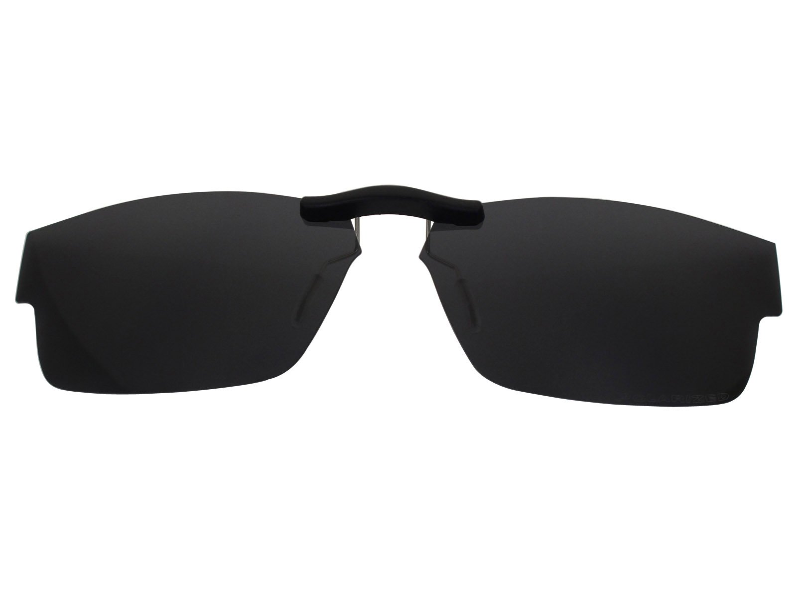 Custom Fit Polarized CLIP-ON Sunglasses For Oakley Airdrop (57) OX8046 57X18 Black by COODY