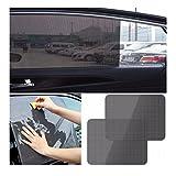Iuhan® Fashion 2Pcs Car Rear Window Side Sun Shade Cover Block Static Cling Visor Shield Screen