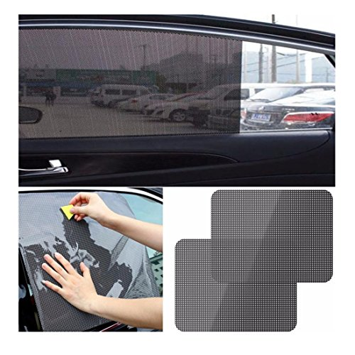 Static Cling Windshield - Iuhan® Fashion 2Pcs Car Rear Window Side Sun Shade Cover Block Static Cling Visor Shield Screen