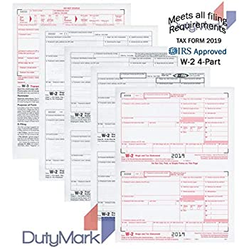 w2 form 2019  W16 Forms 16019, 16 Part Tax Forms, and W-16 Transmittal - Kit for 165  Employees, Great for QuickBooks and Accounting Software, All W-16 Forms in  Value Pack ...
