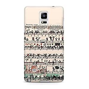Peopletoo Paper Art Etude 81 Full Wrap Rough Case Skin, Fashion Design Image Custom , Durable Hard 3d Case Cover for Samsung Galaxy Note 4 Regular Case New Design