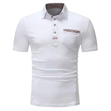 Camisas De Polo Hombres Camisetas De Hombres con Retro Slim Fit O ...