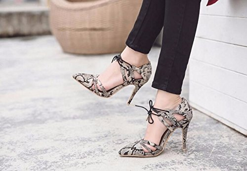 KPHY-die KPHY-die KPHY-die hochhackige Schuhe hochhackige Schuhe Schlangenhaut Stoff Einer flachen Mund hohl sexy Schuhe caf923