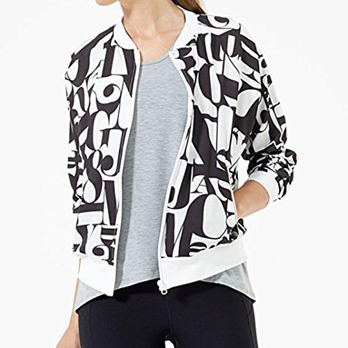 AIMTOPPY Women Only Queen Print Satin Bomber Long Sleeve Zipper Jacket Coat (XL, - Canada Kors