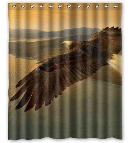 "Birds Eagles Animals Fly in the sky Custom Fashion Waterproof Fabric Bath Shower Curtain 60"" x 72"""