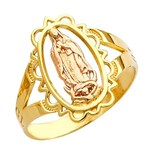 10k-Two-Tone-Yellow-and-Rose-Gold-Oval-Filigree-Style-Charm-Blessed-Mother-Mary-Ring