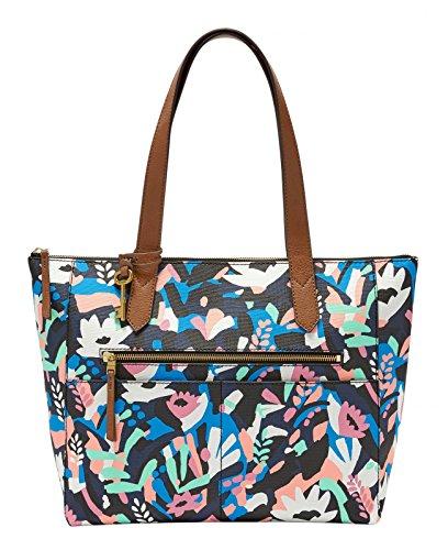 Ew Fiona Shopper nbsp; Multicolore Damentasche black Floral Tote Fossil Borse Donna w41tq