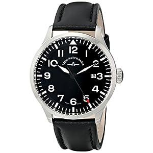Zeno Men's 6569-515Q-A1 Navigator Black Leather Strap Watch