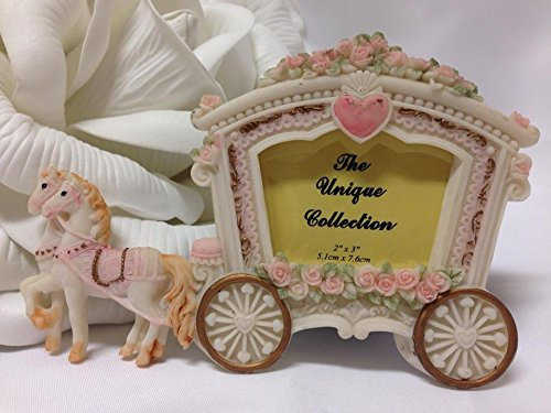 (1 Stage Coach Horse Buggy Photo Frame Favor Keepsake Gift Wedding Sweet 16)
