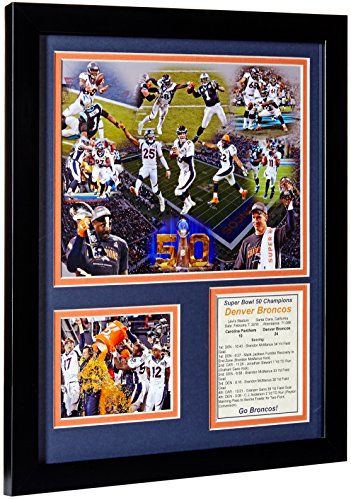 Broncos Bowl Super Team Denver - Legends Never Die NFL Denver Broncos 2015 Super Bowl 50 Champions Team Framed Photo Collage, 11