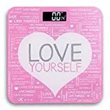 Digital Bathroom Scale: Positive Message (Pink, Purple, For Teeangers & Women)
