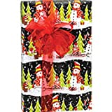 Chalkboard Snowman 24in.x417ft. Gift Wrap Counter Roll - 1 Roll
