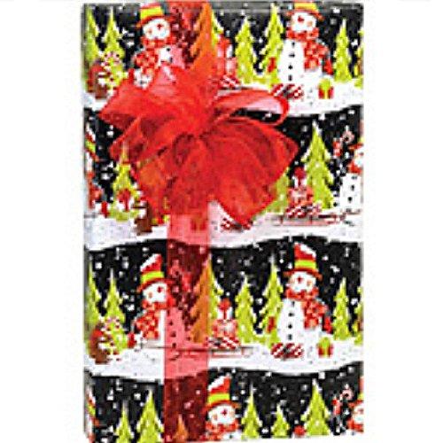 Chalkboard Snowman 24in.x417ft. Gift Wrap Counter Roll - 1 Roll by SF