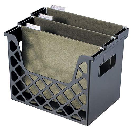 Office Depot 30% Recycled Desktop File Organizer, 10 3/4in.H x 13 1/4in.W x 8 5/8in.D, Black, 10413 ()