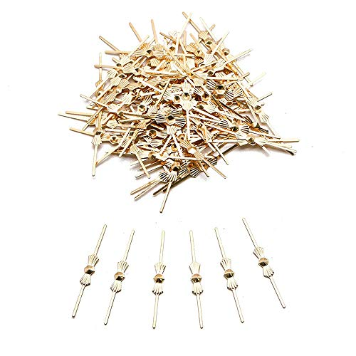 (300Pcs Bow Tie Clip Connector for Chandelier Crystals Gold Color)