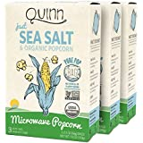 Quinn Popcorn Microwave Popcorn - Made with Organic Non-GMO Corn - Great Snack Food for Movie Night {Just Sea Salt, 3 Boxes}