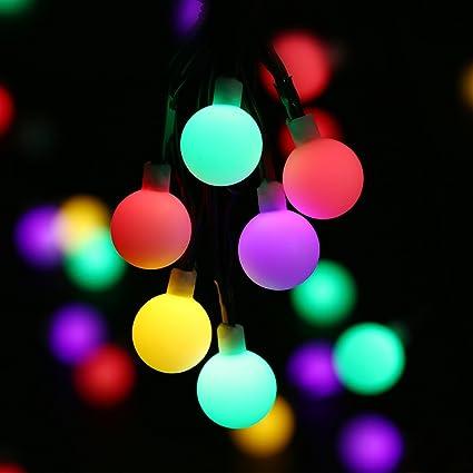 WOOTOP Christmas Decorations, 50 LED 17.7ft RGB Globe Christmas Lights, 7  Color Changing - Amazon.com : WOOTOP Christmas Decorations, 50 LED 17.7ft RGB Globe