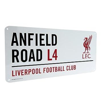 Oficial de Liverpool Anfield Road L4 placa de metal con nombre de calle