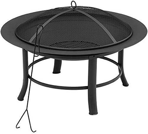 "28"" Fire Pit Includes a Spark Guard Mesh Lid"