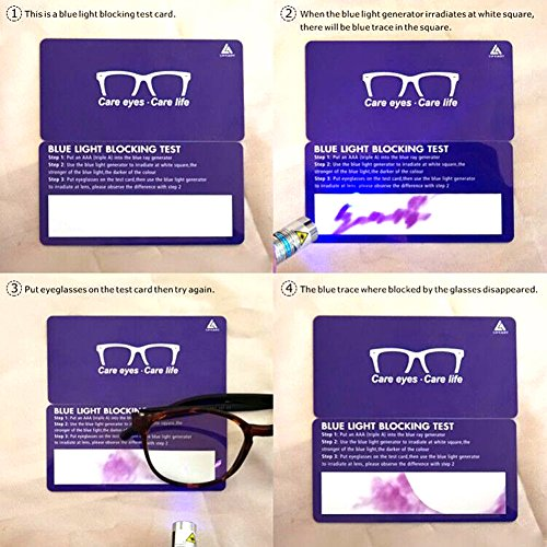 LifeArt Blue Light Blocking Glasses,Cut UV400 Transparent Lens,Computer Reading Glasses,Anti Eyestrain/Anti Scratch/Anti Smudgy,Sleep Better for Women/Men(LA_Days_Tortoise,0.00,No Magnification) by LifeArt (Image #6)