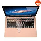 Supmega Keyboard Cover Compatible with MacBook Air 2018 [13.3 inch A1932 with Retina Display and Touch ID] Clear TPU Soft Protector [2-Pack].