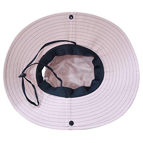 4dd17b2bba2a2 Muryobao Women's Sun Hat Outdoor UV Protection Foldable Mesh Bucket Hat  Wide Brim Summer Beach Fishing