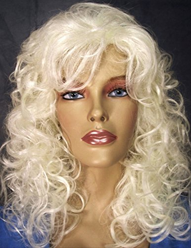 PRETTY GIRL Soft Loose Curls Wig by Mona Lisa - 613A White Blonde
