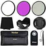 Professional 55MM Filter Accessory Kit + Wireless Remote Control, 8 Piece Lightweight, Compact Accessories For Nikon