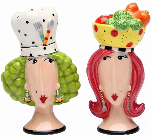 Appletree Design Chef and Lady Salt and Pepper Set, - Dolly Designs Mama