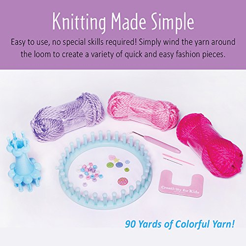 51K3nLupTPL - Creativity for Kids Quick Knit Loom – Teaches Beneficial Skills and Creativity – Easy to Use – For Ages 7 and Up