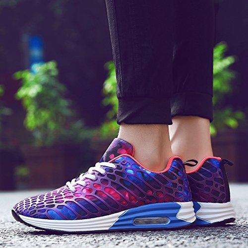 FUSHITON Men Women Road Running Shoes Lightweight Athletic Walking Fashion Sneakers Purple 5PPnAgYX4Q