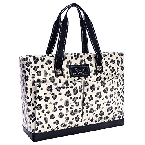 SCOUT Uptown Girl Medium Multi-Pocket Tote Bag, Water Resistant, Zips Closed, Press Paws by SCOUT