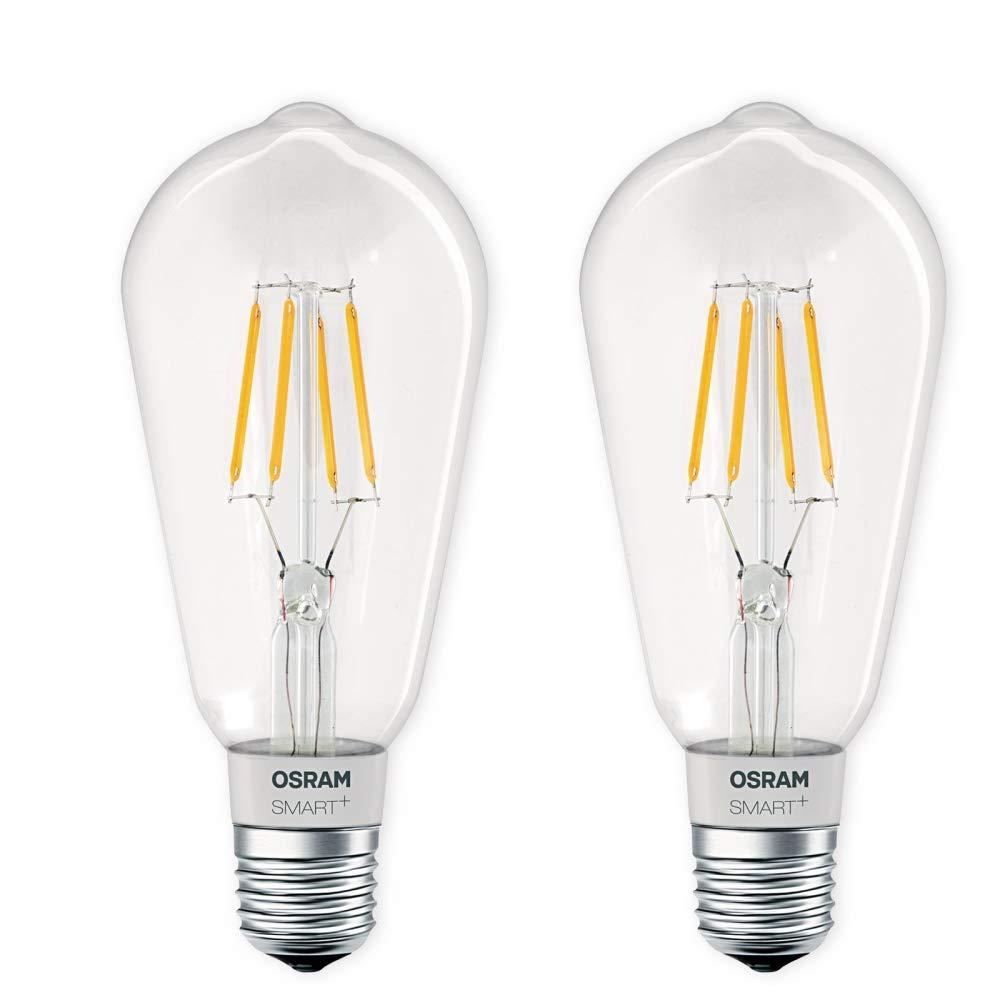 OSRAM SMART+ LED E27 Lampe Filament Edison 5,5W 2700K dimmbar Apple HomeKit Siri Auswahl 2er Set