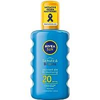 NIVEA SUN solspray, ljusskyddsfaktor 20, sprayflaska, skydd och smuts, 200 ml