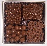 Scott's Cakes Large 4-Pack Chocolate Pretzels, Chocolate Malt Balls, Chocolate Peanuts, & Chocolate Raisins